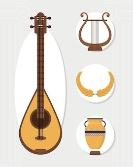 Grieks instrument en symbolen