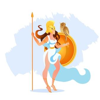 Griekse athena pallas godin van victorious war