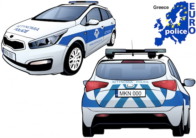 Griekse politie-auto