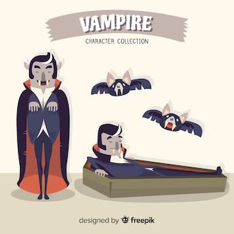 Griezelig halloween vampier karakter collectie