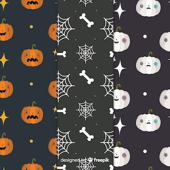 Griezelig pompoenen naadloos halloween-patroon