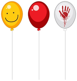 Griezelige ballonnen met bloed