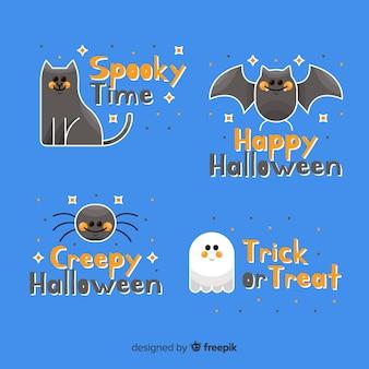 Griezelige dieren en spooketiketten en badges