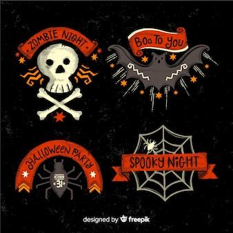 Griezelige halloween-badgeinzameling