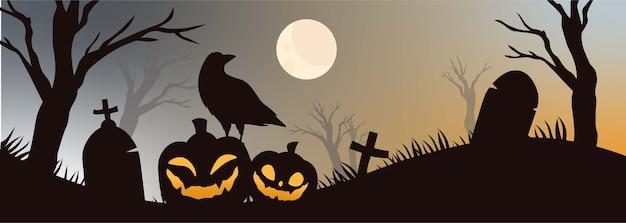 Griezelige happy halloween party uitnodiging achtergrond.