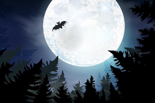 Griezelige kaart voor halloween