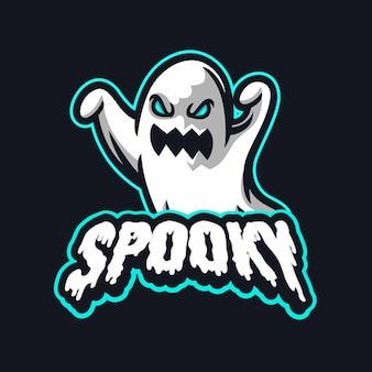 Griezelige spook enge gamingmascotte voor sport- en esports-logo-streaming en team