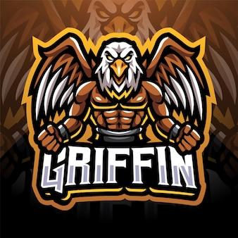 Griffin esport mascotte logo ontwerp