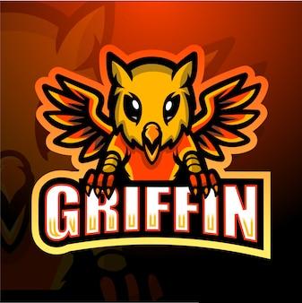 Griffin mascotte esport illustratie