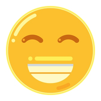 Grijnzend gezicht met lachende ogen emoticon