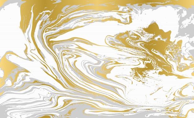 Grijs en goud agaat rimpelpatroon. bleke mooie marmeren achtergrond.