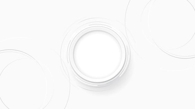 Grijs wit abstracte technische achtergrond, cirkel lege ruimte voor tekst