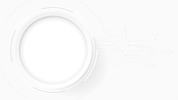 Grijs wit abstracte technische achtergrond, hi-tech digitale verbinding, communicatie, hoogtechnologisch concept, wetenschap, technische achtergrond