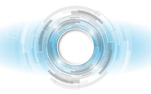 Grijs-wit abstracte technische achtergrond met verschillende technologie-elementen