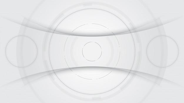 Grijs-witte abstracte technische achtergrond