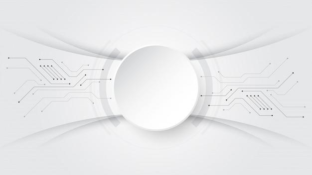 Grijs-witte abstracte technologie banner achtergrond