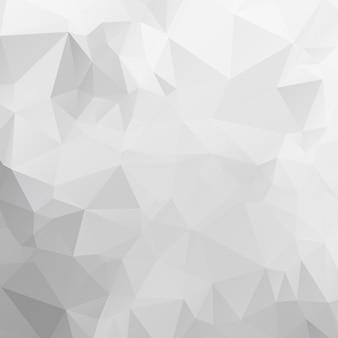 Grijs-witte veelhoekige illustratie, die uit driehoeken bestaat. geometrische achtergrond in origamistijl met gradiënt. driehoekig ontwerp voor uw bedrijf.