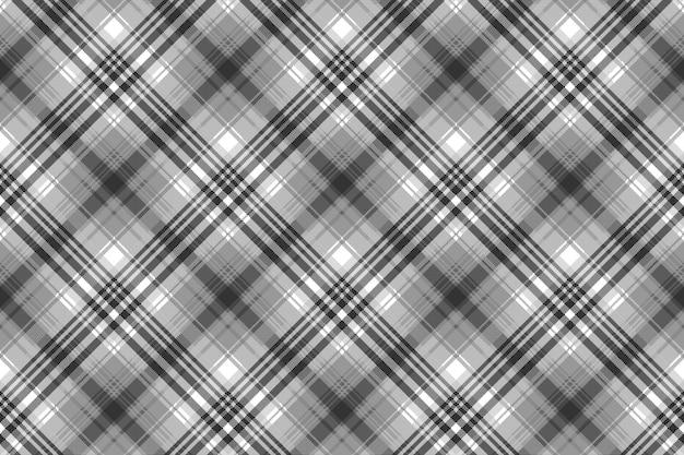 Grijs zwart wit pixel geruit plaid naadloos patroon