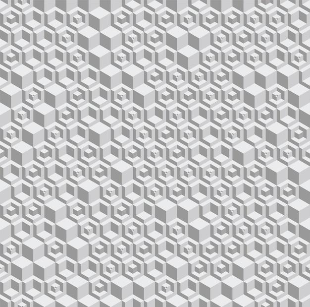 Grijswaarden zeshoekig naadloos vectorpatroon