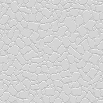 Grijze 3d naadloze patroon met gestileerde stenen