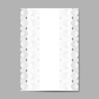 Grijze 3d zeshoekige patroonachtergrond