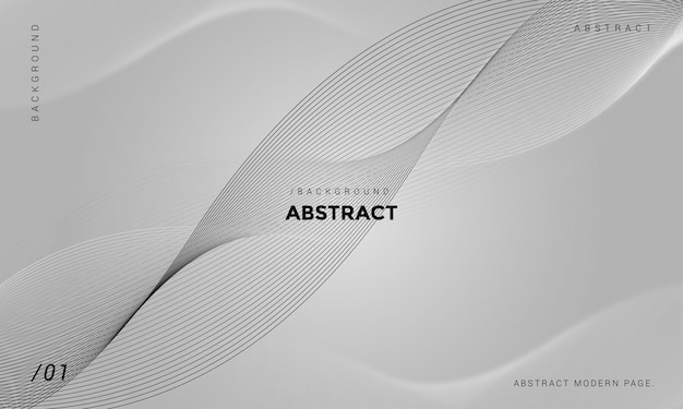 Grijze abstracte minimalistische tech achtergrond