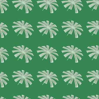 Grijze abstracte palm licuala blad ornament naadloze patroon