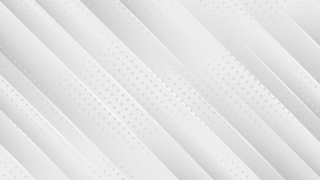 Grijze achtergrond met diagonale lijnen en abstracte stippen.