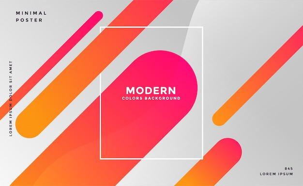 Grijze achtergrond met kleurrijke abstracte lijnen
