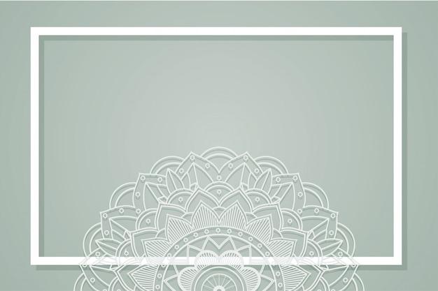 Grijze achtergrond met mandala-ontwerp
