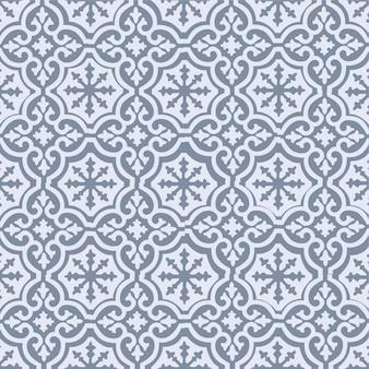 Grijze achtergrond met ontwerp met indiase ornamenten