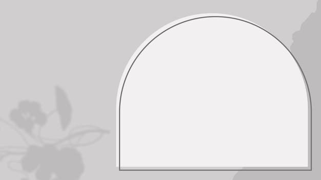 Grijze achtergrond vector met boog frame