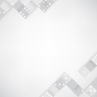 Grijze blokken op lege witte achtergrond