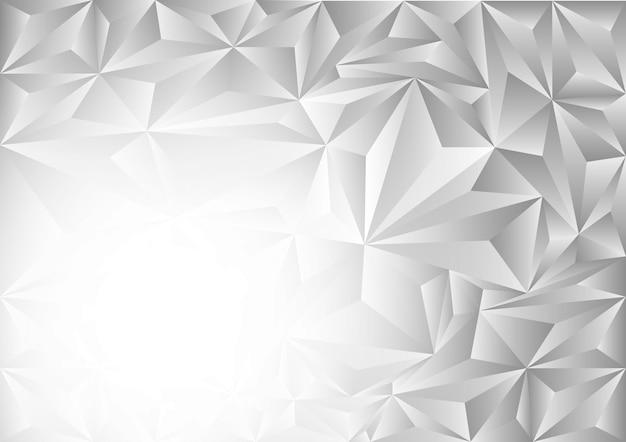 Grijze en witte veelhoek abstracte vectorachtergrond