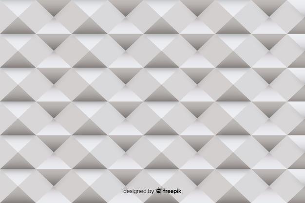 Grijze geometrische vormen papierstijl