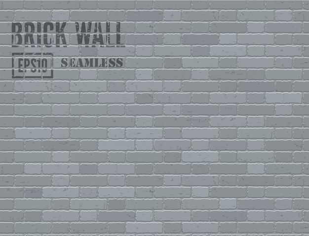 Grijze grunge bakstenen muur naadloze achtergrond