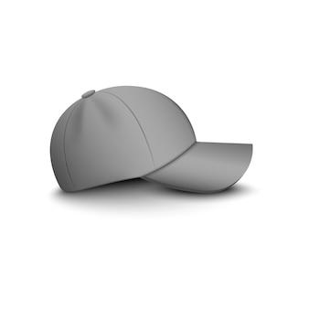 Grijze honkbalpet of hoed voor uniform