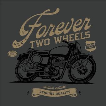 Grijze klassieke motorfietsen