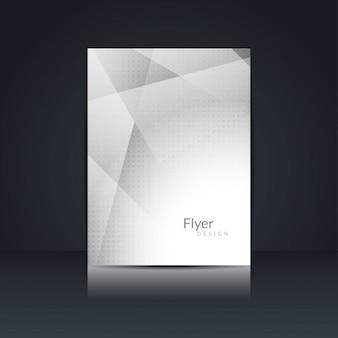 Grijze kleur flyer ontwerp