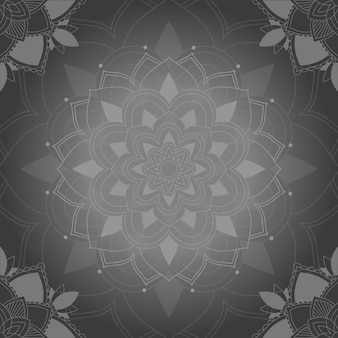 Grijze mandala patronen achtergrond