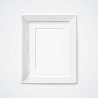 Grijze rechthoekige fotolijst met schaduw