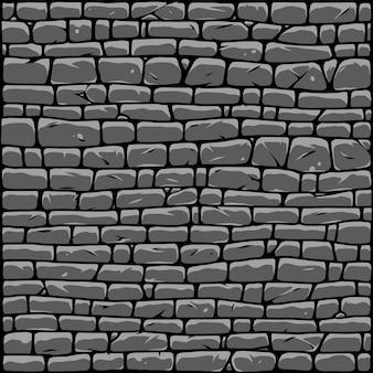 Grijze stenen muur abstracte achtergrond in vintage stijl vectorillustratie