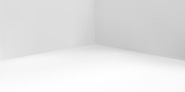 Grijze studioachtergrond, achtergrond 3d-lichttafel van het ruimteproduct, vector witte lichte doos