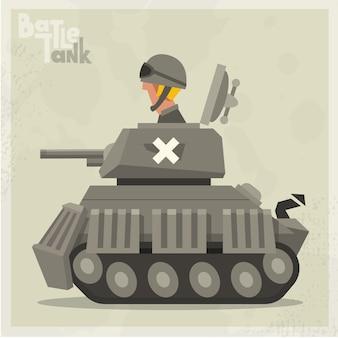 Grijze tank achtergrond