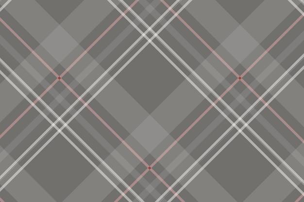 Grijze tartan naadloze patroon achtergrond