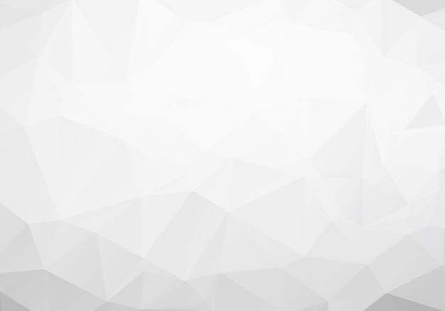 Grijze veelhoekige mozaïek papier achtergrond