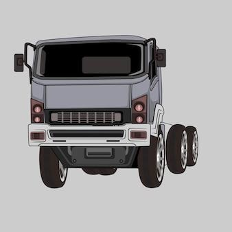 Grijze vrachtwagen