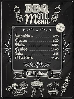 Grill menu krijtbord