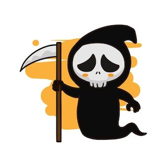 Grim reaper hand getrokken vector