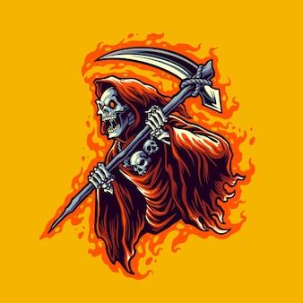 Grim reaper illustratie